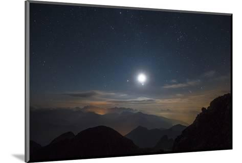 The Moon over Pala from the Peak of Cima D'Asta-Ulla Lohmann-Mounted Photographic Print