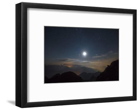 The Moon over Pala from the Peak of Cima D'Asta-Ulla Lohmann-Framed Art Print