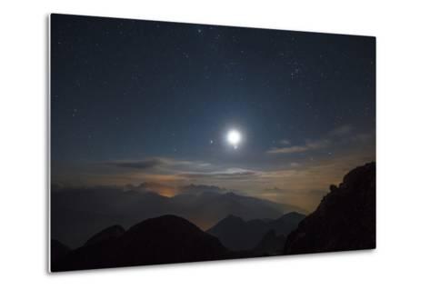 The Moon over Pala from the Peak of Cima D'Asta-Ulla Lohmann-Metal Print