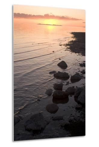 The Shoreline of Antelope Island and the Surface of the Great Salt Lake, Antelope Island State Park-Phil Schermeister-Metal Print