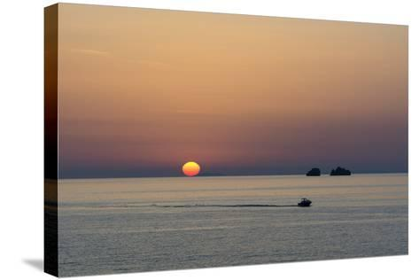 The Aegean Sea at Sunset from Parikia-Sergio Pitamitz-Stretched Canvas Print