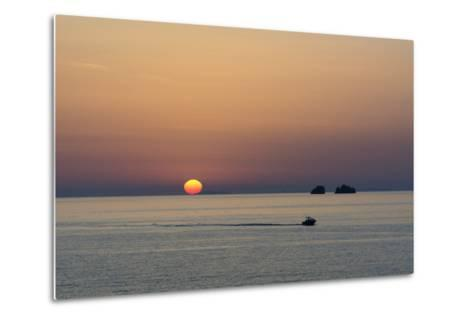 The Aegean Sea at Sunset from Parikia-Sergio Pitamitz-Metal Print