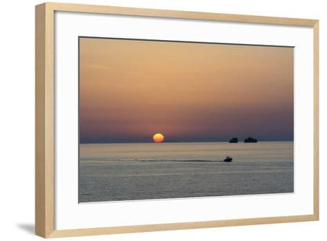 The Aegean Sea at Sunset from Parikia-Sergio Pitamitz-Framed Art Print