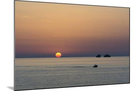 The Aegean Sea at Sunset from Parikia-Sergio Pitamitz-Mounted Photographic Print