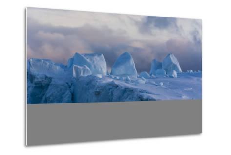 Detail of an Iceberg in Ilulissat Icefjord, an UNESCO World Heritage Site-Sergio Pitamitz-Metal Print