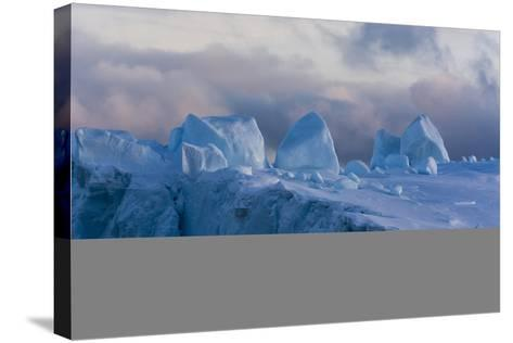 Detail of an Iceberg in Ilulissat Icefjord, an UNESCO World Heritage Site-Sergio Pitamitz-Stretched Canvas Print