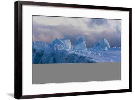 Detail of an Iceberg in Ilulissat Icefjord, an UNESCO World Heritage Site-Sergio Pitamitz-Framed Art Print
