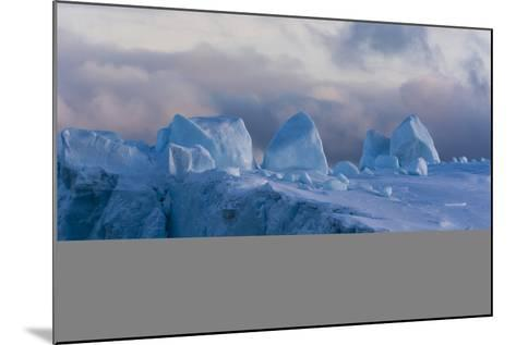 Detail of an Iceberg in Ilulissat Icefjord, an UNESCO World Heritage Site-Sergio Pitamitz-Mounted Photographic Print