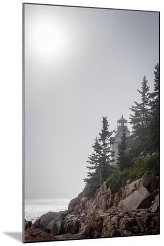 A Foggy Summer Day at Bass Harbor Headlight in Acadia National Park in Maine-Hannele Lahti-Mounted Photographic Print