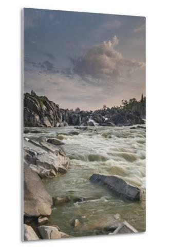 Great Falls of the Potomac River, from Fishermen's Eddy on the Virginia Side-Irene Owsley-Metal Print