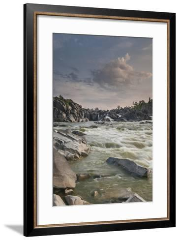 Great Falls of the Potomac River, from Fishermen's Eddy on the Virginia Side-Irene Owsley-Framed Art Print