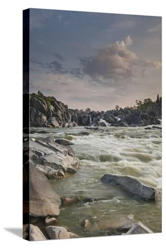 Great Falls of the Potomac River, from Fishermen's Eddy on the Virginia Side-Irene Owsley-Stretched Canvas Print