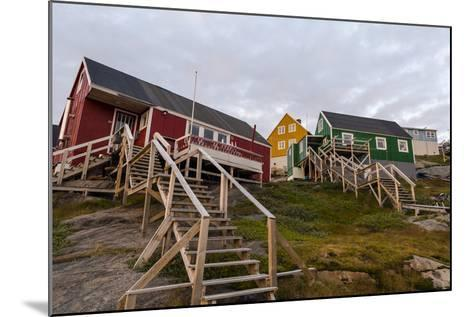 Stairs Lead to Cottages Perched on Rocky Outcrops in an Arctic Village-Jason Edwards-Mounted Photographic Print