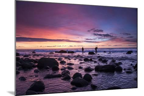 Early Morning Anglers Attempt a Good Catch on a Rocky Montauk Shoreline-Robbie George-Mounted Photographic Print