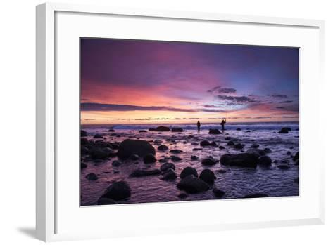 Early Morning Anglers Attempt a Good Catch on a Rocky Montauk Shoreline-Robbie George-Framed Art Print