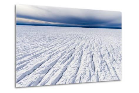 Pressure Ridges and Crevasse Scar the Surface of a Glacier on the Greenland Ice Sheet-Jason Edwards-Metal Print