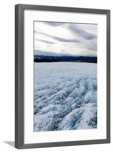Pressure Ridges and Crevasse Scar the Surface of a Glacier on the Greenland Ice Sheet-Jason Edwards-Framed Art Print