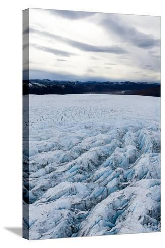 Pressure Ridges and Crevasse Scar the Surface of a Glacier on the Greenland Ice Sheet-Jason Edwards-Stretched Canvas Print