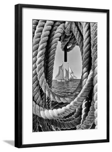 The Taber, the Oldest Documented Sailing Vessel in Continuous Service in the United States-Kike Calvo-Framed Art Print