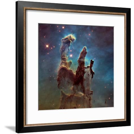 Images of the 'Pillars of Creation' in the Eagle Nebula--Framed Art Print