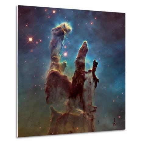 Images of the 'Pillars of Creation' in the Eagle Nebula--Metal Print