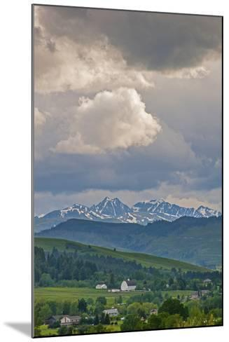 A Summer Thunderstorm Builds over the Spanish Peaks in the Southern Gallatin Valley, Montana-Gordon Wiltsie-Mounted Photographic Print