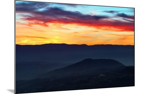 Sunset Colors from the Alps Near the Border of Switzerland and France-Babak Tafreshi-Mounted Photographic Print