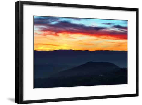 Sunset Colors from the Alps Near the Border of Switzerland and France-Babak Tafreshi-Framed Art Print