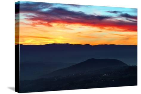 Sunset Colors from the Alps Near the Border of Switzerland and France-Babak Tafreshi-Stretched Canvas Print
