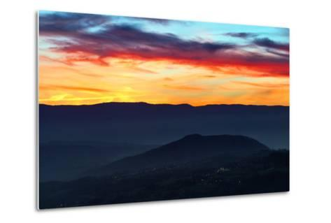 Sunset Colors from the Alps Near the Border of Switzerland and France-Babak Tafreshi-Metal Print
