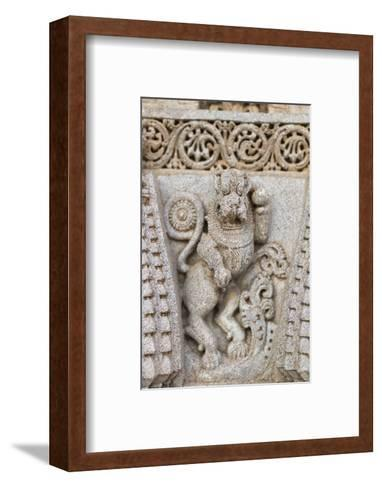 A Detailed Carving of a Yali on the Keshava Temple-Kelley Miller-Framed Art Print