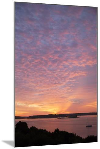 The Sun Rise over Fort Gorges and Casco Bay-Robbie George-Mounted Photographic Print
