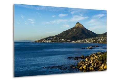 Sunset Falls on Cape Town and the Lion's Head Overlooking Table Bay-Jason Edwards-Metal Print