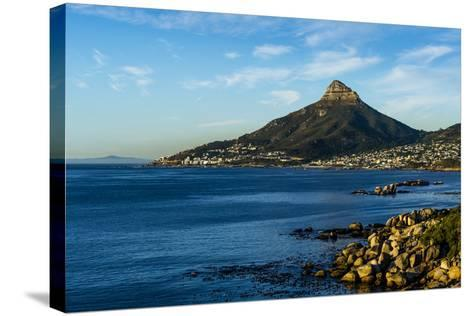 Sunset Falls on Cape Town and the Lion's Head Overlooking Table Bay-Jason Edwards-Stretched Canvas Print