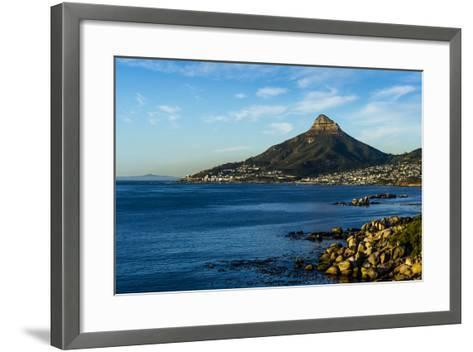 Sunset Falls on Cape Town and the Lion's Head Overlooking Table Bay-Jason Edwards-Framed Art Print
