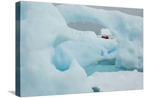 A Blue Iceberg in Grandidier Channel, Antarctica-Ralph Lee Hopkins-Stretched Canvas Print