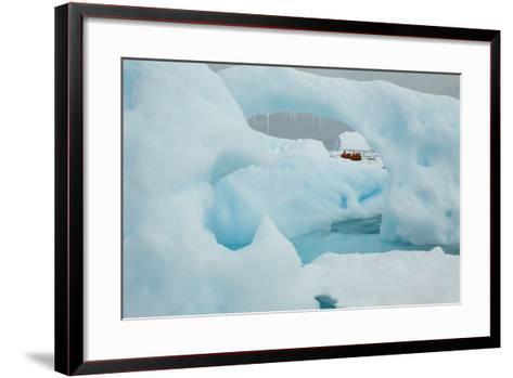 A Blue Iceberg in Grandidier Channel, Antarctica-Ralph Lee Hopkins-Framed Art Print