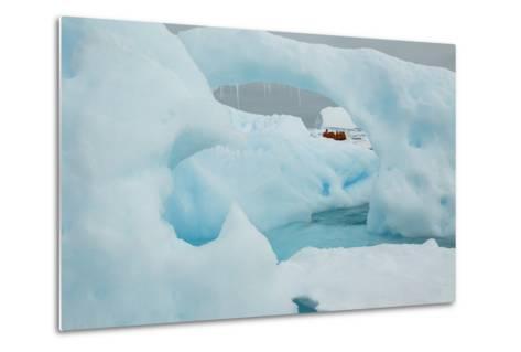 A Blue Iceberg in Grandidier Channel, Antarctica-Ralph Lee Hopkins-Metal Print