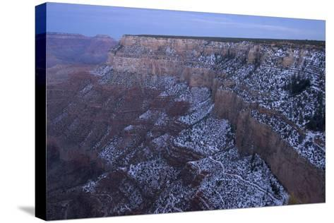 A View of the Grand Canyon from the Rim Trail, a View Point Along Hermit Road on the South Rim-Phil Schermeister-Stretched Canvas Print