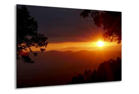 Sunset over the Blue Ridge Mountains-Amy, Al White, Petteway-Metal Print