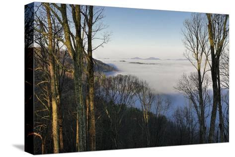 Early Morning Light and Clouds in the Valleys Make Mountains Look Like Islands-Amy, Al White, Petteway-Stretched Canvas Print