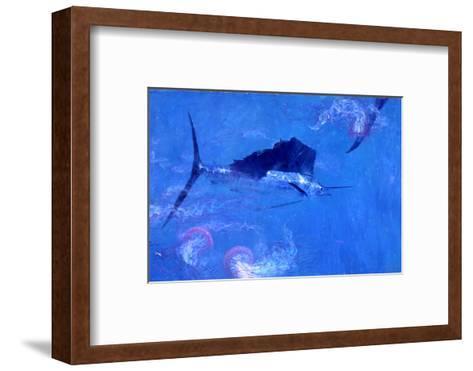 Sailfish and Jellyfish-Stanley Meltzoff-Framed Art Print