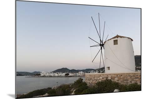 A Windmill on the Coast at Twilight, in Parikia-Sergio Pitamitz-Mounted Photographic Print