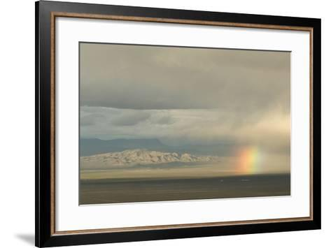 A Rainbow over Great Basin National Park-Phil Schermeister-Framed Art Print