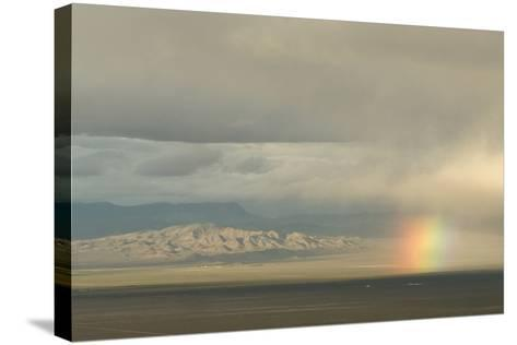 A Rainbow over Great Basin National Park-Phil Schermeister-Stretched Canvas Print