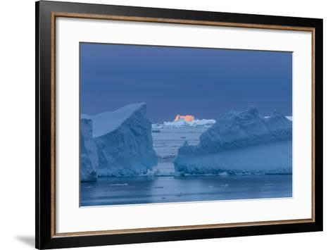A Sunset over Grandidier Channel, Antarctica-Ralph Lee Hopkins-Framed Art Print