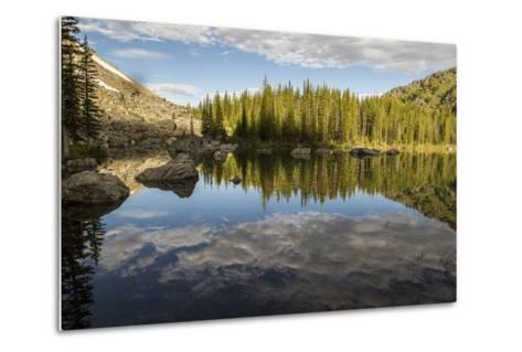 A Beautiful Alpine Lake Glows in the Morning Light, Deep in the Swan Mountain Range-Ami Vitale-Metal Print