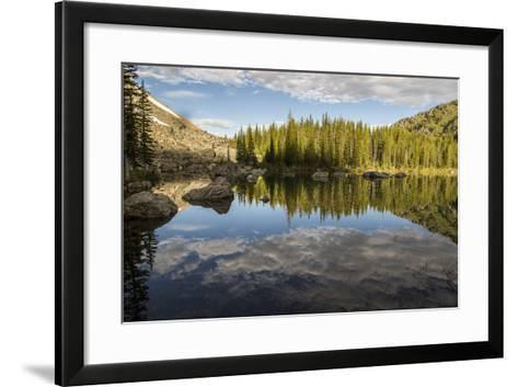 A Beautiful Alpine Lake Glows in the Morning Light, Deep in the Swan Mountain Range-Ami Vitale-Framed Art Print