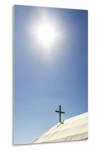 A Crucifix on the Canvas Roof of the St Alipius' School in a Gold Mine Town Museum-Jason Edwards-Metal Print