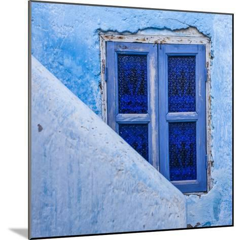 A Blue Painted Window in Le Jardin Des Biehn, a Riad or Small Hotel in the Medina of Fez-Richard Nowitz-Mounted Photographic Print